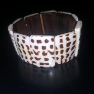 VINTAGE Ivory & Wood Bracelet